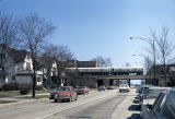 Touhy Avenue and elevated train tracks