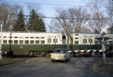 CTA train at level crossing, Wilmette