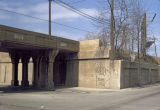 CTA viaduct and embankment wall, Evanston