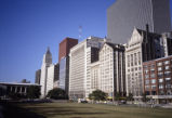 View of Michigan Avenue looking south from Grant Park, near Monroe Street