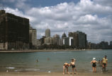 Ohio Street Beach and Lake Shore Drive skyline