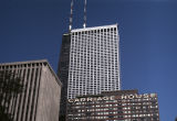 Towers of high-rise buildings with footprints east of North Michigan Avenue