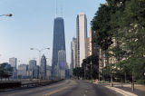 View to south along North Lakeshore Drive, with John Hancock Center