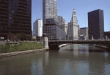 View northeast along the Chicago River