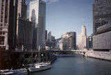 View along Chicago River from the Michigan Avenue bridge