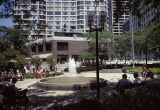 Plaza and fountain outside the Sun-Times Building