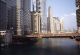 High-rise buildings along the Chicago River