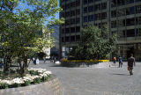 Pioneer Court plaza and Equitable Building