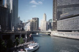 View along Chicago River towards the Thompson Center and Ryan Insurance (55 West Wacker)