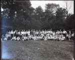 Activities, Large group posed in front of trees