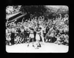 Children boxing, one of the activities at the 10-day outing camps held at Camp Reinberg in Deer...