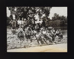 Forest Preserve District Day Camp, Boys Sitting on Stone Steps