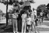 Congressman Frank Annunzio pictured with his grandchildren and his son in law