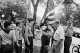 Congressman Frank Annunzio with boy scouts in July Fourth Edgebrook Parade
