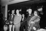 Alderman Anthony Laurino, Congressman Frank Annunzio, Chester Witorski, and Mrs. Angeline Anuunzio (left