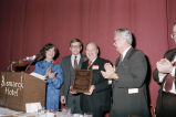 Judge Marilyn Komosa, Al Mazewski give Congressman Frank Annunzio an award