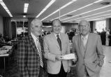 Congressman Frank Annunzio with Tim Sheenan at a bank