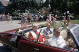 Congressman Frank Annunzio in a car with a minister