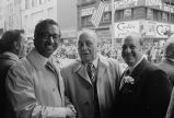 Congressman Frank Annunzio with two men at the Columbus Day Parade