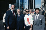 Congressman Frank Annunzio, Mark, and Frank Lato at a parade event