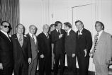 Congressman Frank Annunzio posing with a group of men