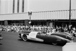 Congressman Frank Annunzio by the Sears store in the Fourth of July Parade at Six Corners