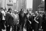 Congressman Frank Annunzio and other officials at the Greek Parade