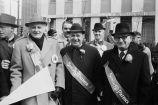 Art Carney, Congressman Frank Annunzio and Alderman Vito Marzullo at the St. Patrick's Day Parade