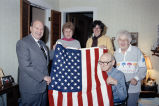 100 year old man receives flag flown over capitol
