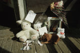 Neighbors and mourners create a shrine, image 15