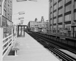Elevated railroad stops, image 015