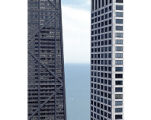 View of Lake Michigan Through Skyscrapers