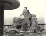 [Construction of Magic Mountain for the Enchanted Island exhibit at A Century of Progress. The photo