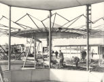 [Construction of the Gazebo in preparation for the Enchanted Island exhibit at A Century of...