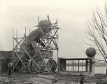 [Construction of the Radio Flyer display for the Enchanted Island exhibit at the Century of...
