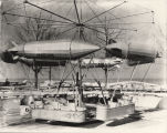 [Construction of one of the amusement rides at the Enchanted Island exhibit one month before the...