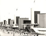 [Street view of the General Exhibits building at A Century of Progress. Photo was taken from the...