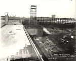 [Construction of the Hall of Science building in preparation for A Century of Progress. This photo...