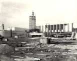 [Exterior view of the Hall of Science under construction in preparation for A Century of Progress. This