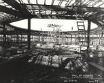 [Construction of the Hall of Science fountain in preparation for A Century of Progress. This photo...