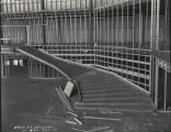 [Interior view of the Hall of Science exhibit under construction. The photo was taken while the building