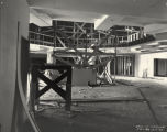 [Interior view of the Hall of Science building. The photo was taken while the exhibit was under construction