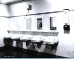 [One of the bathrooms inside the Hall of Science building.]