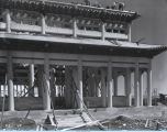 Photo of the Lama Temple exhibit under construction at A Century of Progress.