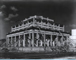 [Photo of the Lama Temple exhibit under construction at A Century of Progress. This building is a...