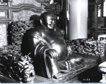 [Laughing Buddha statue at the Lama Temple exhibit, Century of Progress. This photo was taken in...