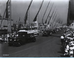 [Standard Oil trucks parading down the Avenue of Flags at A Century of Progress International...