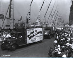 [The Olson Rug float parading down the Avenue of Flags at A Century of Progress International...
