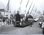[The Old Heidelberg float parading down the Avenue of Flags at A Century of Progress International Exhibition.]