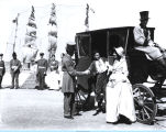[A photo of a horse-drawn carriage at the Century of Progress Pageant of Transportation.]